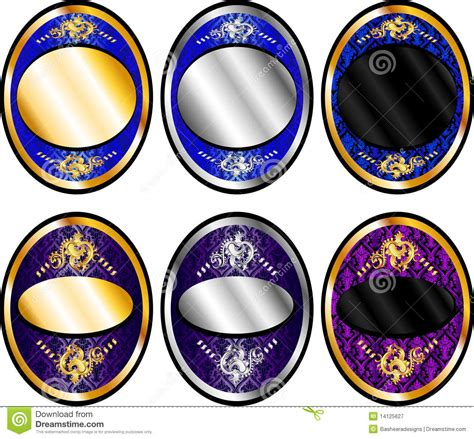 Oval Set 1 oval template set 1 royalty free stock photography image