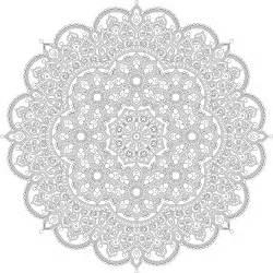 Clipart   Floral Mandala Line Art