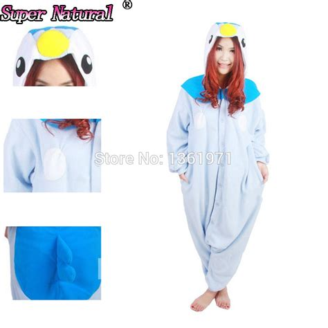 Penguin Hoodie Jumpsuit Blue Jumper Bayi get cheap custom onesies aliexpress