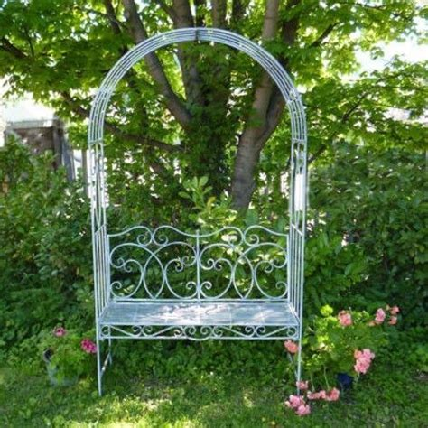 garden bench with arch metal garden bench seat with arch garden arbour garden