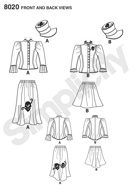 pattern review best patterns 2015 simplicity 8020 misses blouse hat and knit skirts