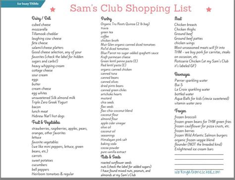 Sam S Club Shopping List Template Best 25 Sams Club Shopping Ideas On Pinterest Stock Up On Diapers Printable Shopping List