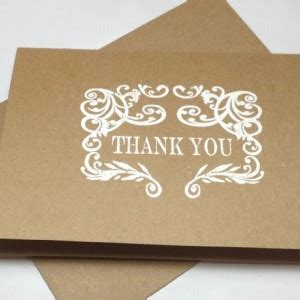 Handmade Thank You Notes - rustic wedding handmade thank you note card set embossed