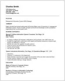 information technology resume exles