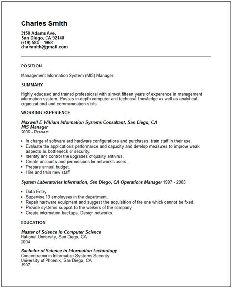 stunning mis manager resume sample for beautiful collection of