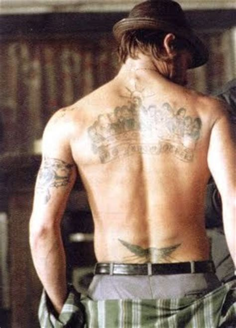 brad pitts tattoos 100 s of brad pitt design ideas picture gallery