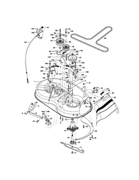 craftsman mower parts diagram craftesman lawn tractor mod 917 272751 wiring diagram 53