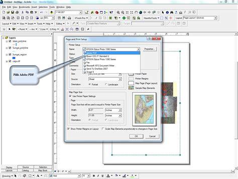 layout peta pdf geo s tutorial layout peta di arcmap