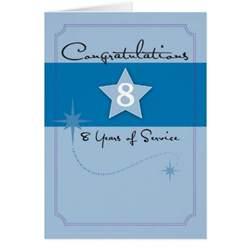 3990 8 year employee anniversary greeting card zazzle