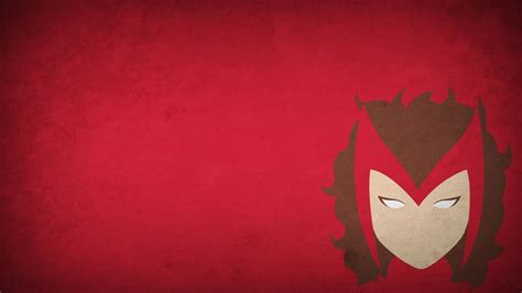 minimalism blop scarlet witch red background superhero