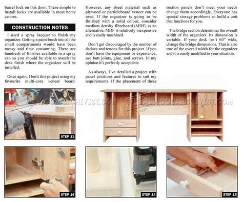 desk organizer woodworking plans desktop organizer plans woodarchivist