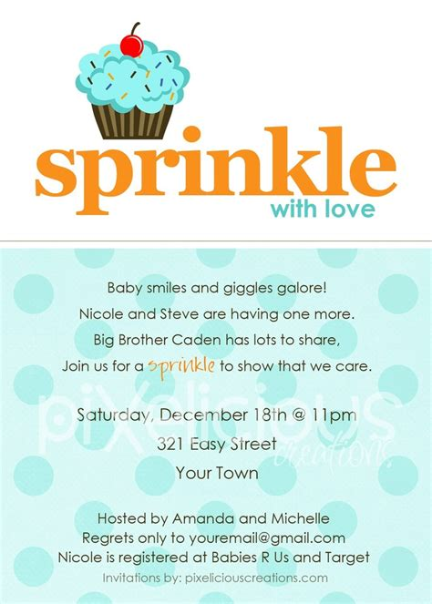 Baby Boy Sprinkle Shower by Sprinkle Custom Baby Shower Invitation Or Boy