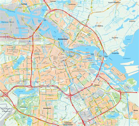 netherlands driving map detailed map of amsterdam city amsterdam detailed map