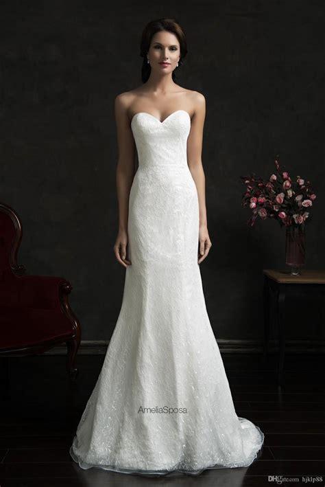 simple style sleeveless wedding dresses 2015 amelia