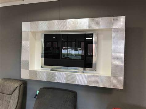 porta tv a parete porta tv a parete foglia argento complementi a prezzi