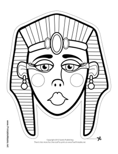 ancient mask template printable mask to color mask
