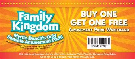 theme park coupons coupons for family kingdom myrtle beach archives myrtle