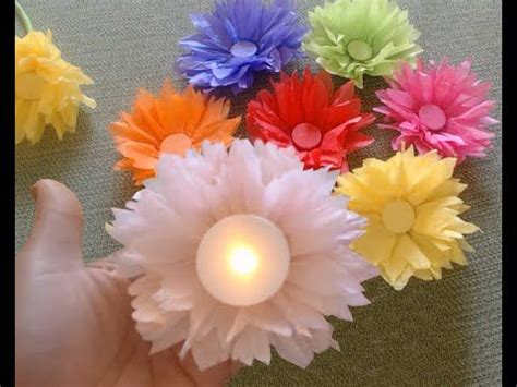 How To Make Tissue Paper Daisies - how to make tissue paper kite paper flowers and