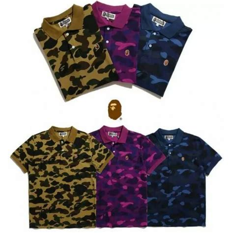 Kaos Bape A Bathing Ape Camo Aape Shirt Tshirt 4 a bathing ape bape camo polo shirt purple