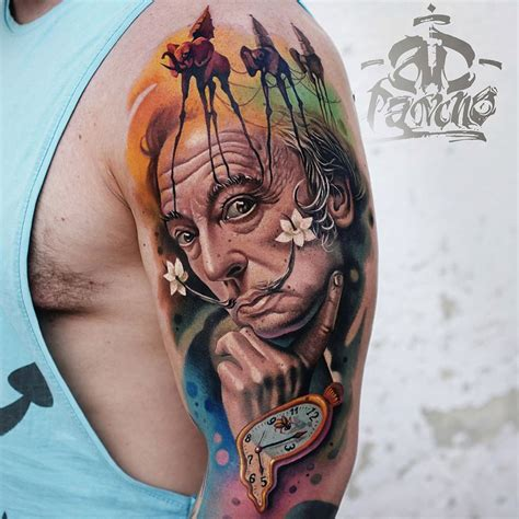 salvador dali tattoo salvador dali portrait best design ideas
