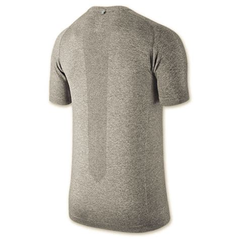 Nike Running Green Grey nike s dri fit knit sleeve running t shirt
