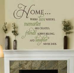 Love Decorations For The Home Home Where Love Resides Inspirational Wall Quote