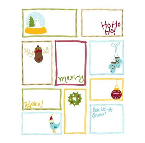 printable giant gift tags cutesy christmas printable gift tags
