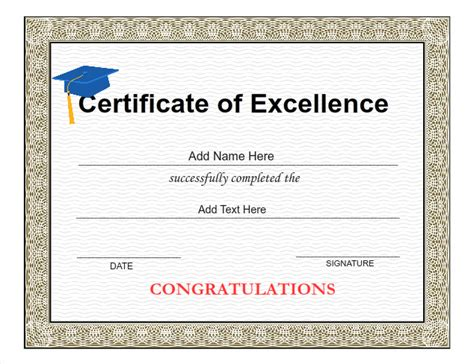 template for making award certificates graduation certificate templates customize with iclicknprint
