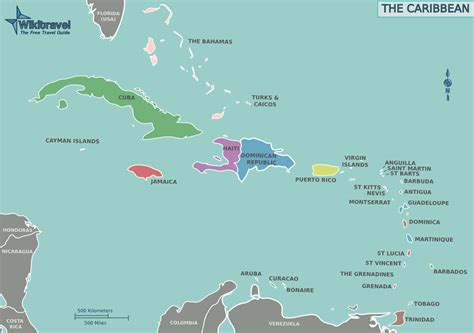 map of the us and caribbean jeihohaitiwiki location