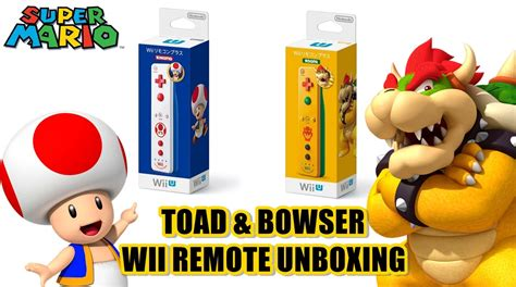 Wii U Remote Plus Kinopio 1 toad bowser wii remote plus controllers unboxing