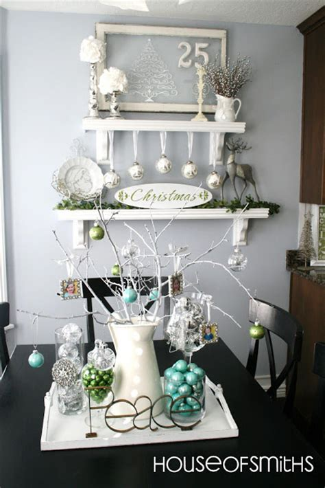 decoration blogs blue green white and silver christmas decorating ideas