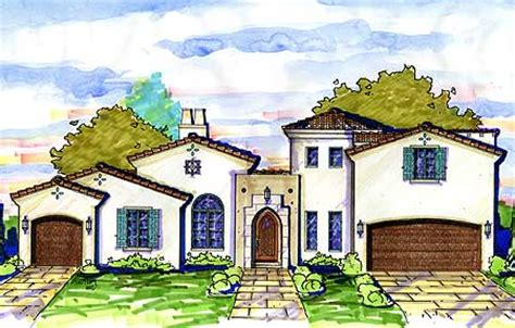 Spanish Home Plans With Courtyards spanish courtyard home plan 42828mj architectural