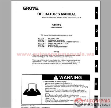 Auto Repair Manuals Grove Crane All Service Manual