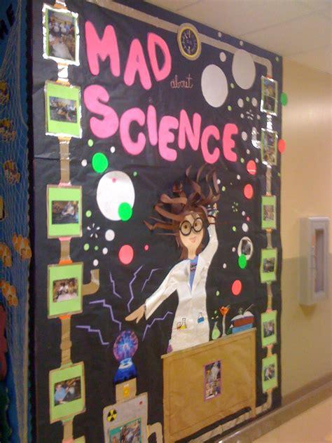 science bulletin board on science classroom