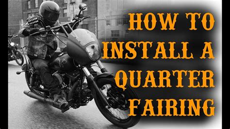 Harley Davidson Quarter Fairing by How To Install A Harley Davidson Quarter Fairing On A Dyna