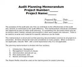 audit work plan template 10 audit memo templates free sle exle format