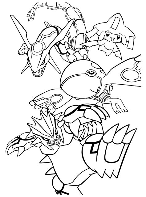 pokemon coloring pages groudon many interesting cliparts