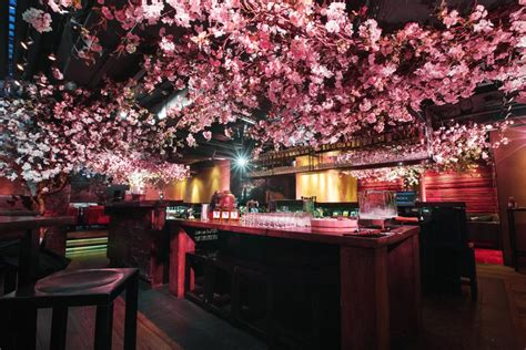 cherry tree menu this japanese restaurant has a cherry blossom installation and it s beautiful