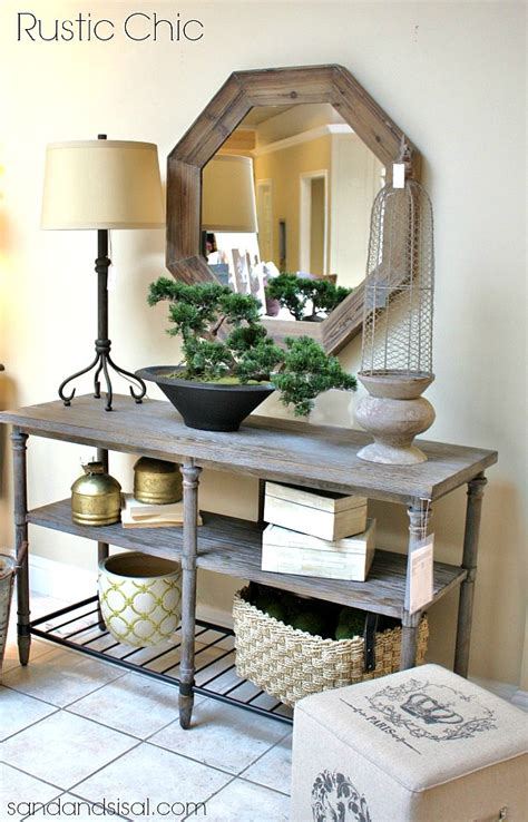 Entry Way Table Decor 27 Best Rustic Entryway Decorating Ideas And Designs For 2016
