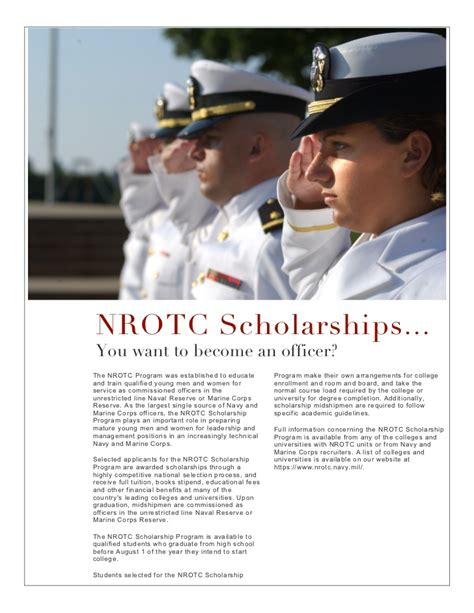 Rotc Sholarship For Mba by Nrotc Scholarship Requirements Winners Ibiblio Web Fc2
