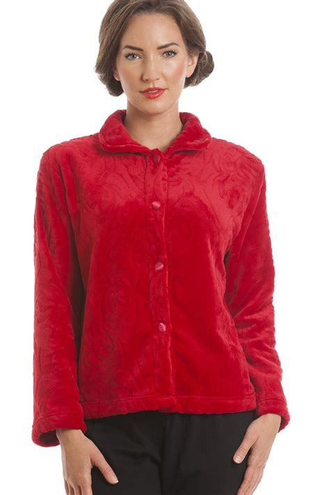 bed jackets luxury supersoft red button up fleece bed jacket