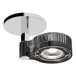 Bazz Axis Collection 1 Light Chrome Ceiling Fixture With Directional Spot Light Fixture