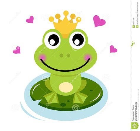 imagenes de ranas kawaii prince mignon de grenouille avec des coeurs images stock