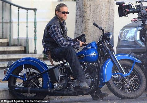 jax teller bikes charlie hunnam films scenes for sons of anarchy boots