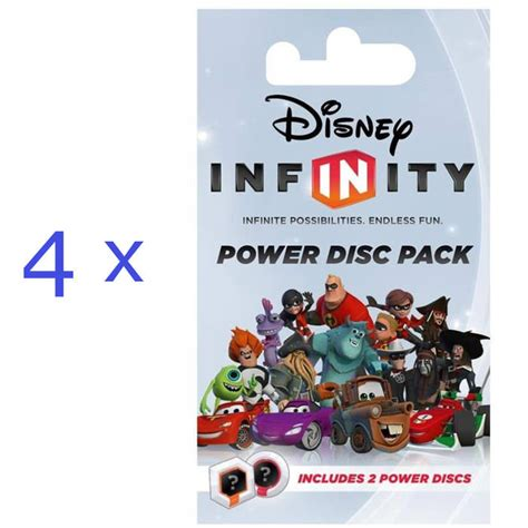 disney infinity ps3 disc only 4 x disney infinity power disc pack xbox 360 ps3 wii 3 ds
