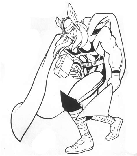 thor coloring pages printable thor coloring pages for 360coloringpages