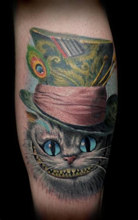 cheshire cat cat portrait tattoos and portrait tattoos on