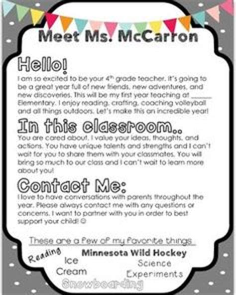 Parent Welcome Letter Template 1000 Ideas About Letters On Meet The Frindle And The