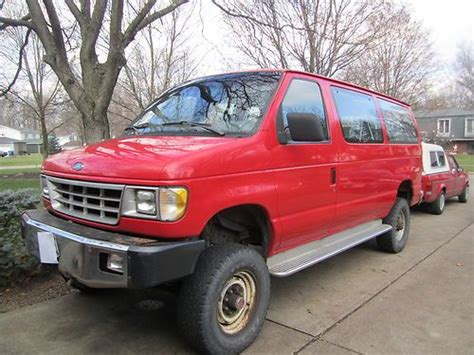 how does cars work 1992 ford econoline e350 interior lighting find used 1992 ford e 350 4x4 diesel 12 passenger van in north olmsted ohio united states