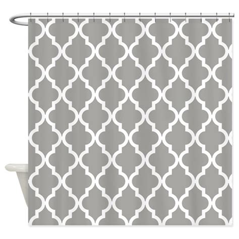 grey moroccan pattern gray moroccan pattern shower curtain by colors and patterns
